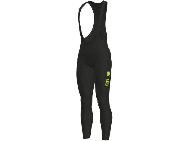Alé Cycling Solid Winter salopette Uomo, black-yellow fluo